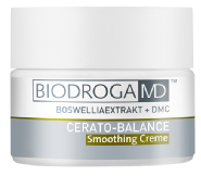 Biodroga Md Cerato Balance Smoothing Cream. helps to counter inflammatory processes and diminishes hornification disorders occurring in the case of keratoses. The ingredients tailored to each other in a synergistic way improve skin's barrier function and protect it against dryness.