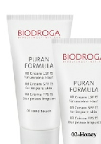 Biodroga puran formula BB cream spf 15 for impure skin - 02 Honey touch. Make-up and care in one product. Skin irregularities and redness are perfectly concealed.